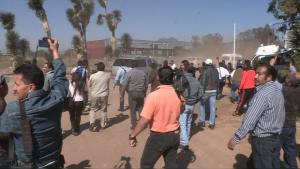 Juan José Ortega Madrigal señaló que al llegar a la Universidad Michoacana de San Nicolás, los maestros encontraron un cerco policiaco con perros entrenados.