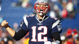 Dec 20, 2015; Foxborough, MA, USA; New England Patriots quarterback Tom Brady (12) takes the field before their game against the Tennessee Titans at Gillette Stadium. Mandatory Credit: Winslow Townson-USA TODAY Sports